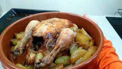 pollastre a l'ast acabat , recepta feta